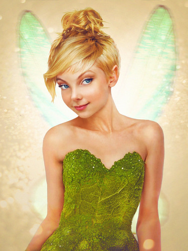 ディズニー 壁紙 possibly with a カクテル dress and a strapless called ティンカーベル from Peter Pan in Real Life