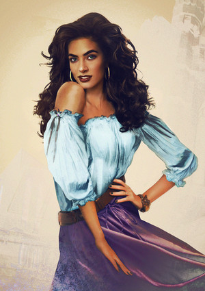 Esmeralda from the Hunchback on Notre Dame in Real Life