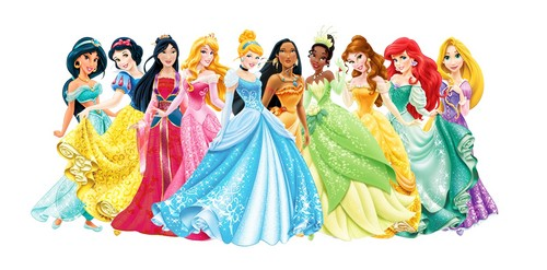 Disney Princess kertas dinding titled Disney Princess Lineup
