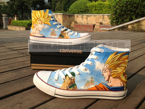 Dragon Ball converse hand painted shoes