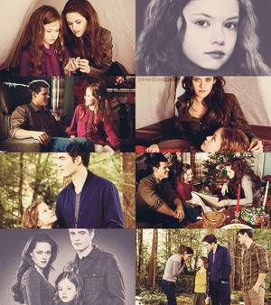 Edward, Bella Renesmee and Jake