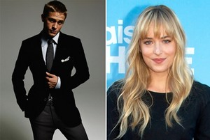 Christian grey and Ana Steele(Charlie Hunnam and Dakota Johnson)