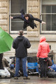 Filming the 'Fall' scene - sherlock photo