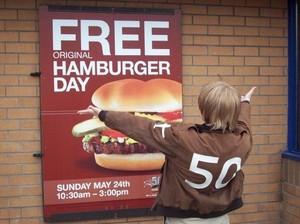 Free burger day!