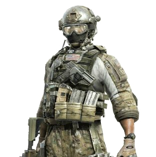 Call Of Duty Games Wallpaper Containing A Rifleman Green Beret And Breastplate