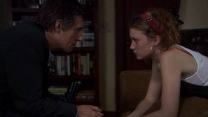 Gabriel Byrne and Mia Wasikowska (Dr. Paul Weston and Sophie)