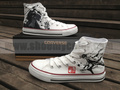 Gintama converse hand painted anime shoes - gintama photo