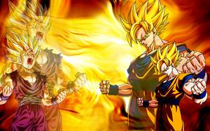 Goku & Gohan fond d'écran