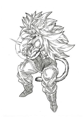 Dragon Ball Z fond d'écran entitled Goku