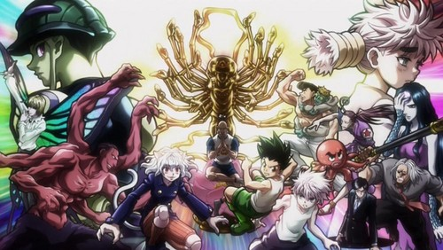 hunter x hunter wallpaper probably containing a stained glass window and animê called HXH mural