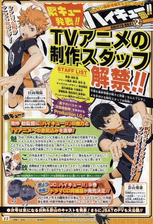 Haikyuu anime staff