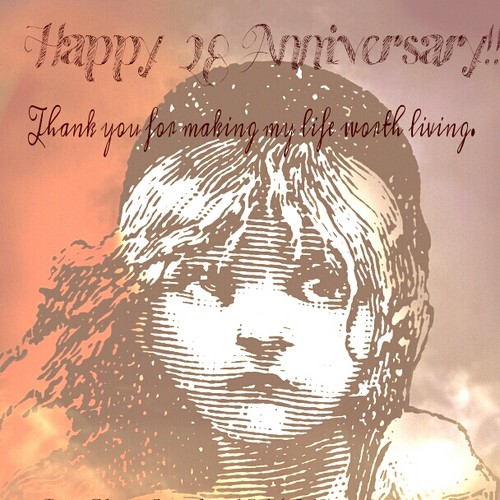 Les Miserables wallpaper probably containing a sign called Happy Anniversary Les Miz!!!♥