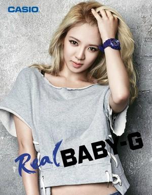"""Hyoyeon """"Real"""" Baby-G"""
