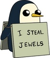 I steal jewels. - gunter-from-adventure-time photo