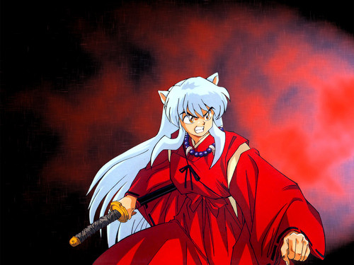 Inuyasha karatasi la kupamba ukuta probably containing anime called InuYasha