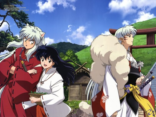 Inuyasha.:The Final Act:. 壁紙 possibly containing a サーコート, サーコット and a 陣羽織, 玄関, タバード called InuYasha