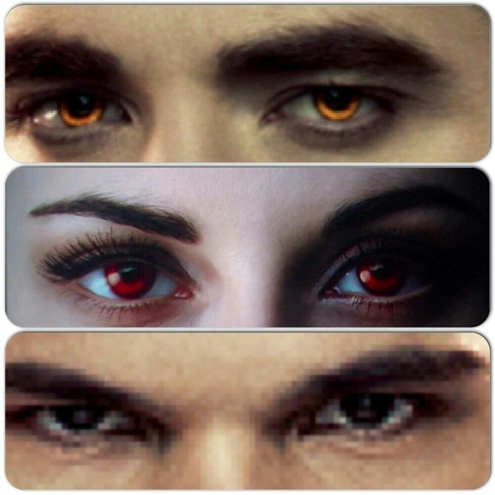 Edward, Bella and Jake's eyes