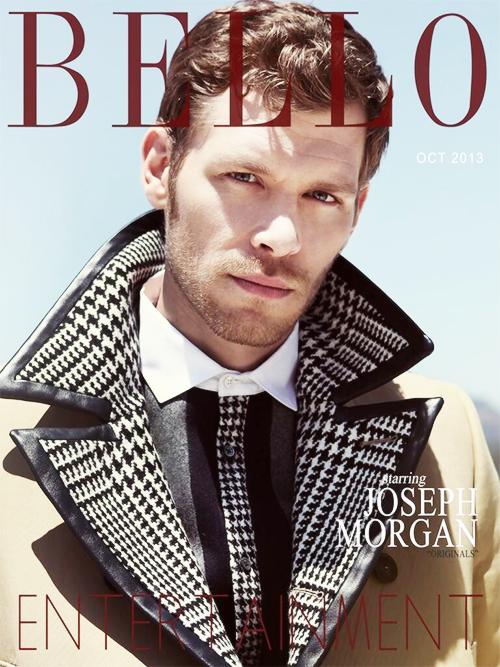 Joseph Morgan → Bello Magazine October 2013 Entertainment Cover