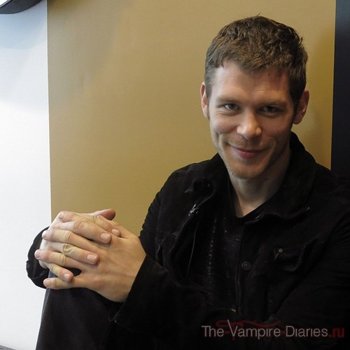 Joseph Morgan wallpaper possibly containing a portrait entitled Joseph Morgan behind the scenes with Entertainment weekly
