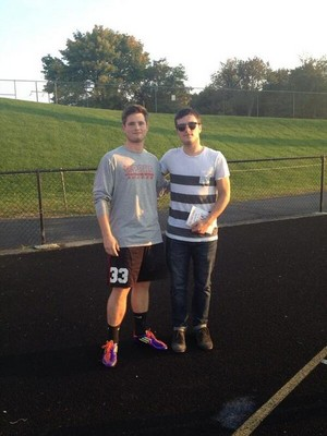 Josh at a Ryle putbol game today! (10.3.13)