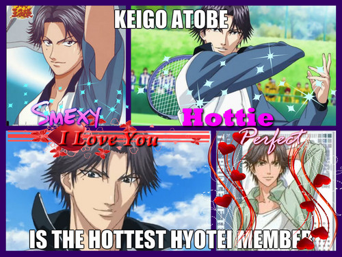 Prince Of Tennis Wallpaper Containing Anime Entitled Keigo Atobe Is The Hottest Hyotei Member
