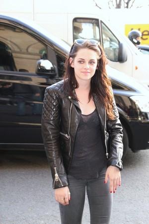 Kristen leather জ্যাকেট