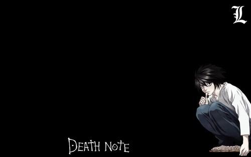 Death Note achtergrond entitled L Lawliet