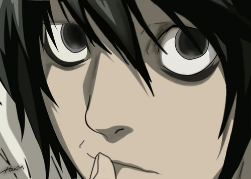 Death Note achtergrond called L Lawliet