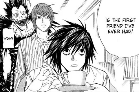 Death Note fond d'écran with animé titled L in the manga