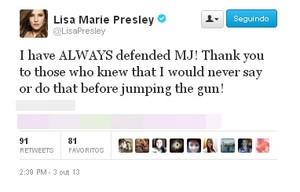 LMP tweets about MJ