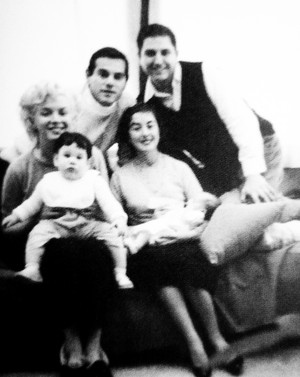 MM with Milton Greene and his family