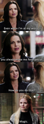 Regina et Emma fond d'écran containing a portrait called Magic