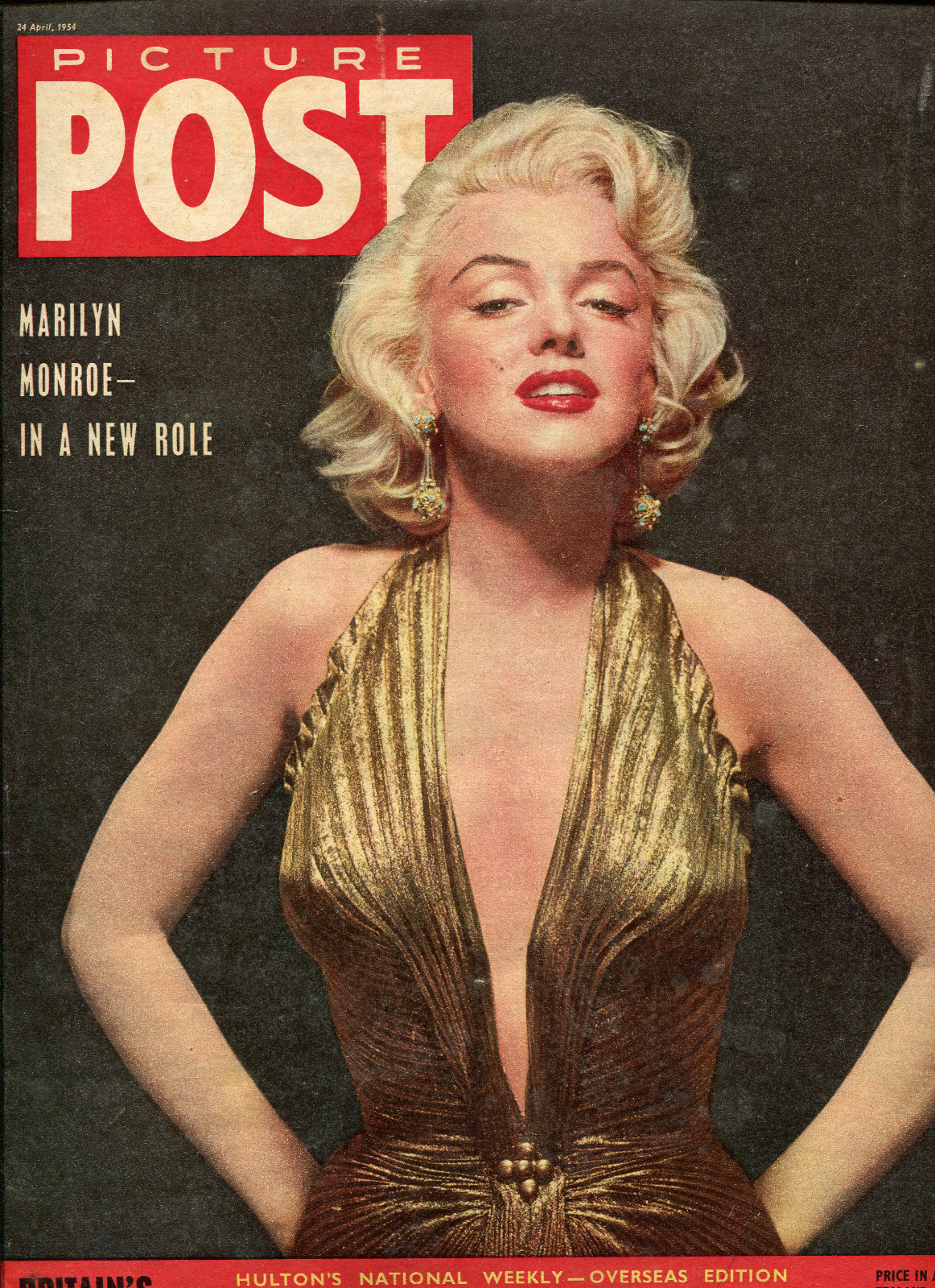 """Marilyn On The Cover Of """"Picture Post"""" Magazine"""