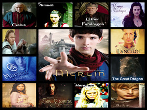 Merlin character collage