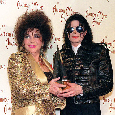 Michael And Elizabeth Backstage At The 1993 American musik Awards
