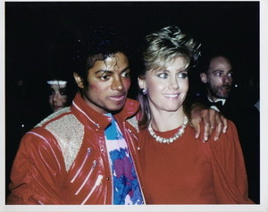 Michael Jackson And Olivia Newton-John