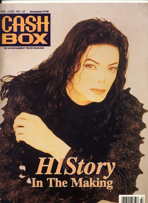 "Michael On The Cover Of ""Cash Box"" Magazine"