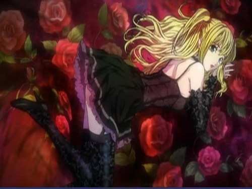 death note wallpaper probably containing anime titled Misa Amane