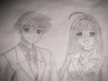 Moka and Tskune - rosario-vampire fan art