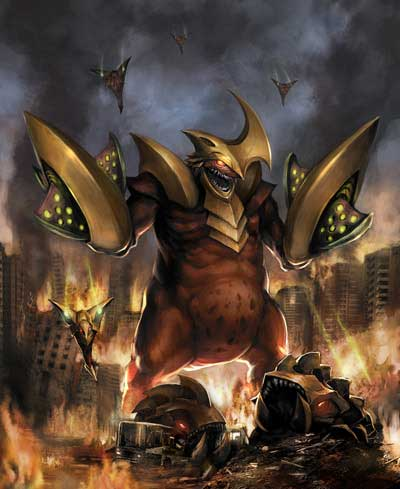 Monsters & Fiends karatasi la kupamba ukuta probably containing anime entitled Monsterpocalypse