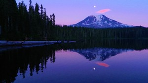 Mount Adams Reflected in Takhlakh Lake, Washington