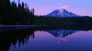 Mount Adams Reflected in Takhlakh Lake, Washington