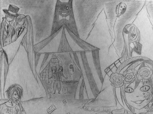My dark woods circus drawing