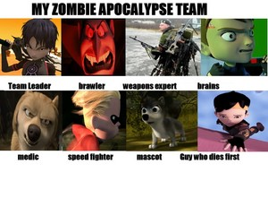 My zombie apocalypse team with Eve and Runt in it.