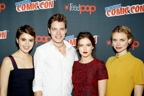 The Vampire Academy Blood Sisters wallpaper containing a portrait entitled NY Comic Con 2013 - Dominic, Zoey, Lucy & Sami