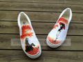 Naruto Uchiha Sasuke hand painted canvas shoes - uchiha-sasuke fan art