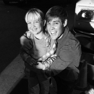 On set: Mason and Ava
