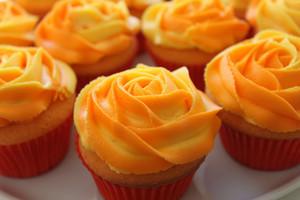 naranja cupcakes