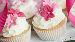 rosa, -de-rosa bolo de copo ♥