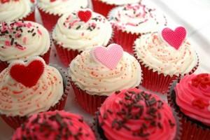 ピンク カップケーキ ♥